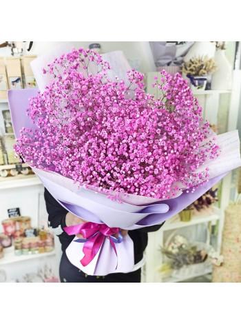 Букет из розовой гипсофилы