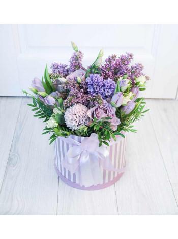 """Цветы в шляпной коробке """"Абигейл"""""""