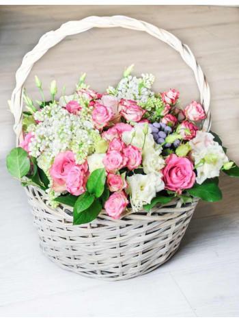 "Корзина с цветами ""Цветущий сад"""