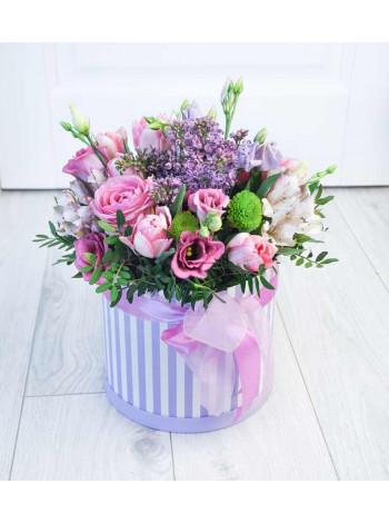 """Цветы в шляпной коробке """"Патрисия"""""""