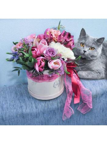 """Цветы в шляпной коробке """"Примроуз"""""""
