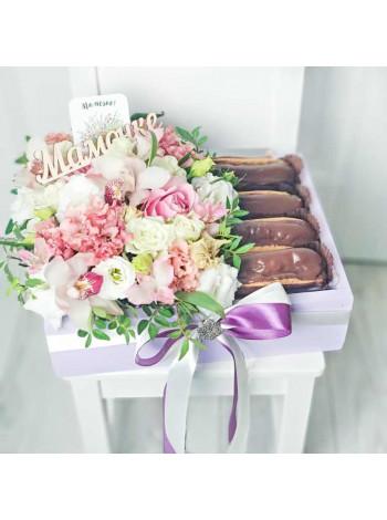 """Цветы в деревянном ящике """"Беттина"""""""