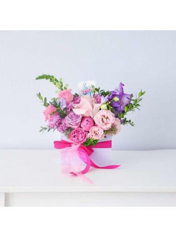 """Цветы в деревянном ящике """"Флорет"""""""