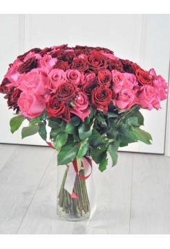 Букет из 101 розы.