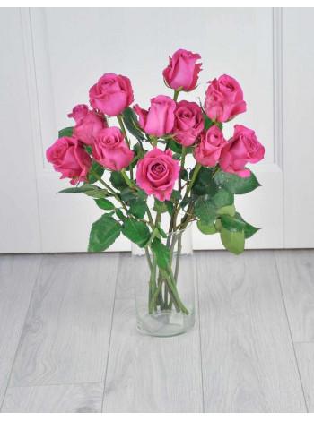 Букет из 11 розовых роз.