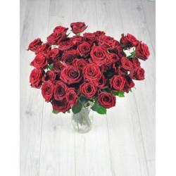 Букет из 51 красной розы.