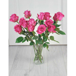 Букет из 15 розовых роз.