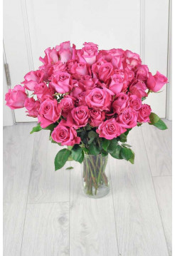 Букет из 51 розовой розы.