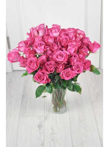Букет из 51 розовой розы