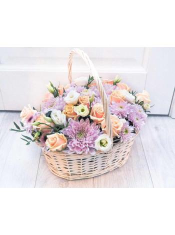 Корзина с цветами «Нежность»