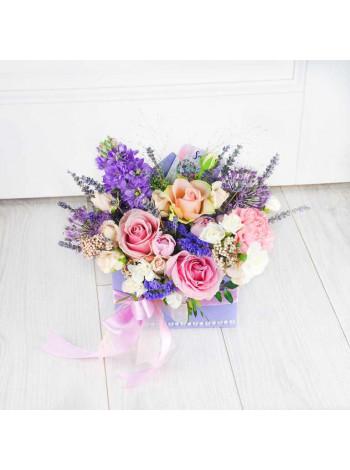 """Цветы в деревянном ящике """"Ноелл"""""""