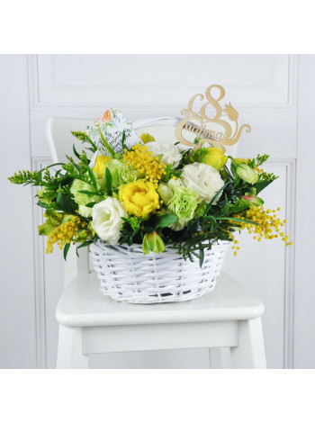 "Корзина с цветами ""Пенелопа"""